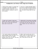 Two Step Multiplication and Division Word Problems