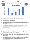 Two Step Problem Solving Using a Bar Graph (Book Order)