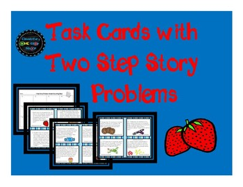 Task Cards with Two Step Story Problems