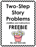 Two-Step Story Problems (Addition and Subtraction) Freebie