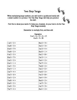 Two Step Tango: Skills Before Multidigit Multiplication