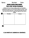 Two Step Word Problem