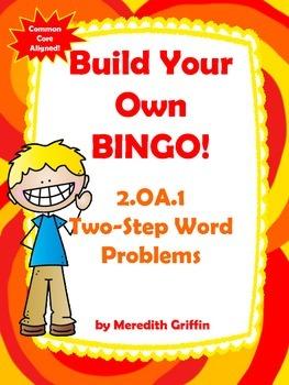 Two Step Word Problem Bingo Common Core 2.OA.1
