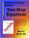 Two Step Word Problem Builder