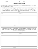 Two-Step Word Problem Comic Strip Activity