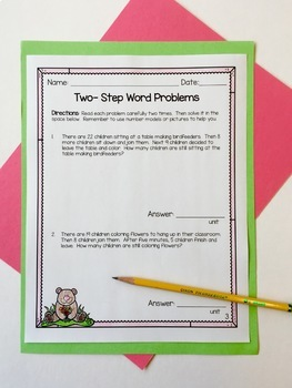 Two Step Word Problem FREEBIE!