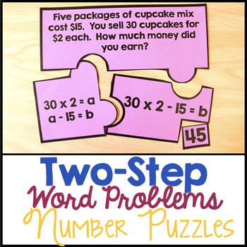 Two-Step Word Problem Number Puzzles