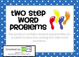 Two Step Word Problem Scoot!