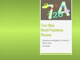 Two Step Word Problem Review PowerPoint 3rd Grade 3.OA.8