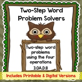 Two Step Word Problem 3rd Grade Worksheets Add Subtract Multiply & Divide 3.OA.8