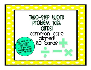 Two Step Word Problem Task Cards