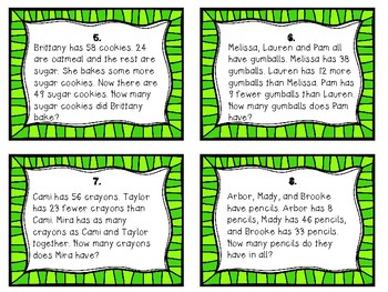Two-Step Word Problem Task Cards
