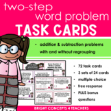 Two Step Word Problem Task Cards {Addition & Subtraction}