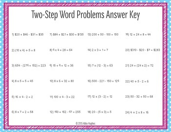 Two Step Word Problem Task Cards Aligned to CC 3.OA.9