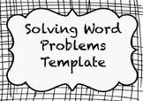 Two Step Word Problem Template