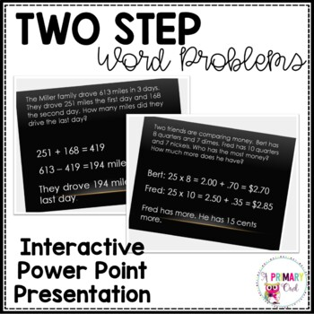 Two Step Word Problems-Interactive Power Point