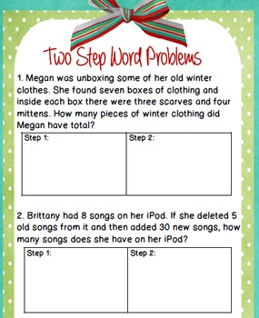 Two Step Word Problems