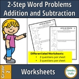 2 Step Addition and Subtraction Word Problems