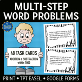 Multistep Word Problems Addition and Subtraction Task Cards