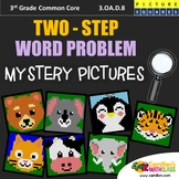 2 Step Word Problems, 3rd Grade Math Worksheets Mysery Picture Coloring