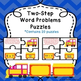Two Step Word Problems Addition and Subtraction Game Puzzles 3rd Grade 3.OA.8