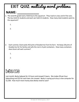 multistep word problems 4th grade lesson packet multi step story problems. Black Bedroom Furniture Sets. Home Design Ideas