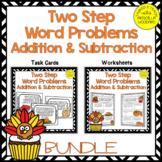 Two Step Word Problems Addition & Subtraction Bundle: Fall Math