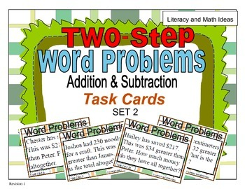 (Set 2) Two-Step Word Problems (Addition and Subtraction)