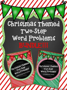 Two-Step Word Problems Christmas Bundle
