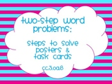 Two-Step Word Problems Common Core Aligned