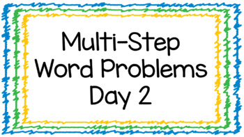 Two Step Word Problems Day 2 Digital Google Classroom