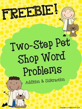 Two-Step Word Problems FREEBIE