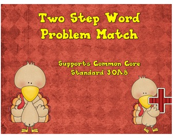 Two Step Word Problems Match