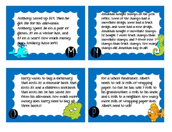 Two Step Word Problems Review Game