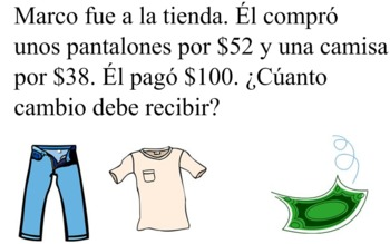 Two-Step Word Problems (SPANISH)