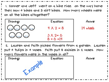 Two-Step Word Problems: Spring Themed 3.OA.8