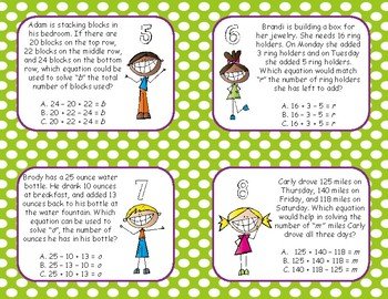 Two Step Word Problems Task Cards 3.OA.8