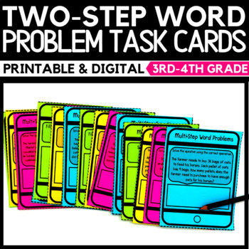 Two-Step Word Problems Task Cards 3.OA.D.8
