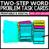 Two-Step Word Problems Task Cards - Classroom and Distance