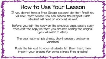 Two Step Word Problems Test Self Grading Google Classroom Digital