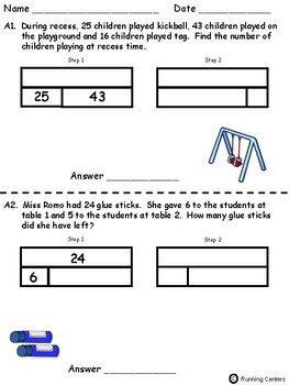 two step word problems 2 step bar models september themed math problem solving. Black Bedroom Furniture Sets. Home Design Ideas