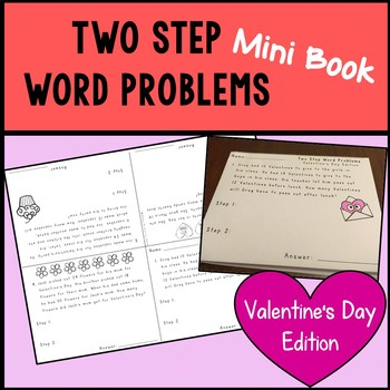 Two Step Word Problems - Valentine's Day Edition