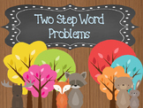 Two-Step Word Problems Woodland theme  O.A.3.8