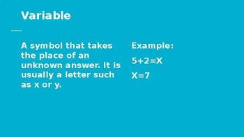 Two Step Word Problems with Variables