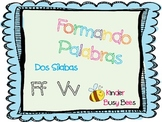 Two Syllable Word Mat Vv and Ff