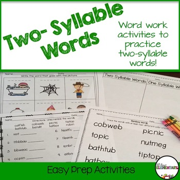 Two-Syllable Words