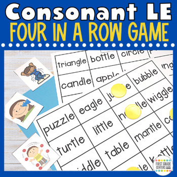 Two Syllable Words Consonant le Four In A Row