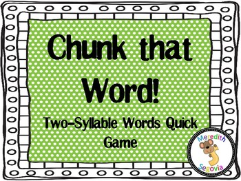 Two-Syllable Words Quick Game