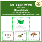 Two-Syllable Words (VCCV) Boom Cards - First Grade Saxon Phonics Lesson 35