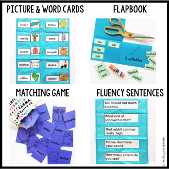 Two Syllable Words with Closed Syllables Word Work Printables {VCCV}